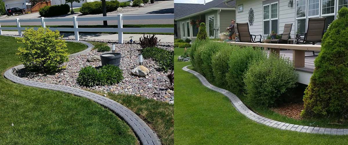 Whitefish concrete landscape & garden edging by kwik kerb